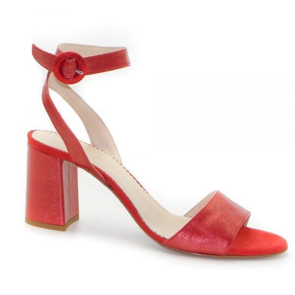 Maemi scarpa da cerimonia tacco 70mm con fibbia rivestita in tinta - rosso