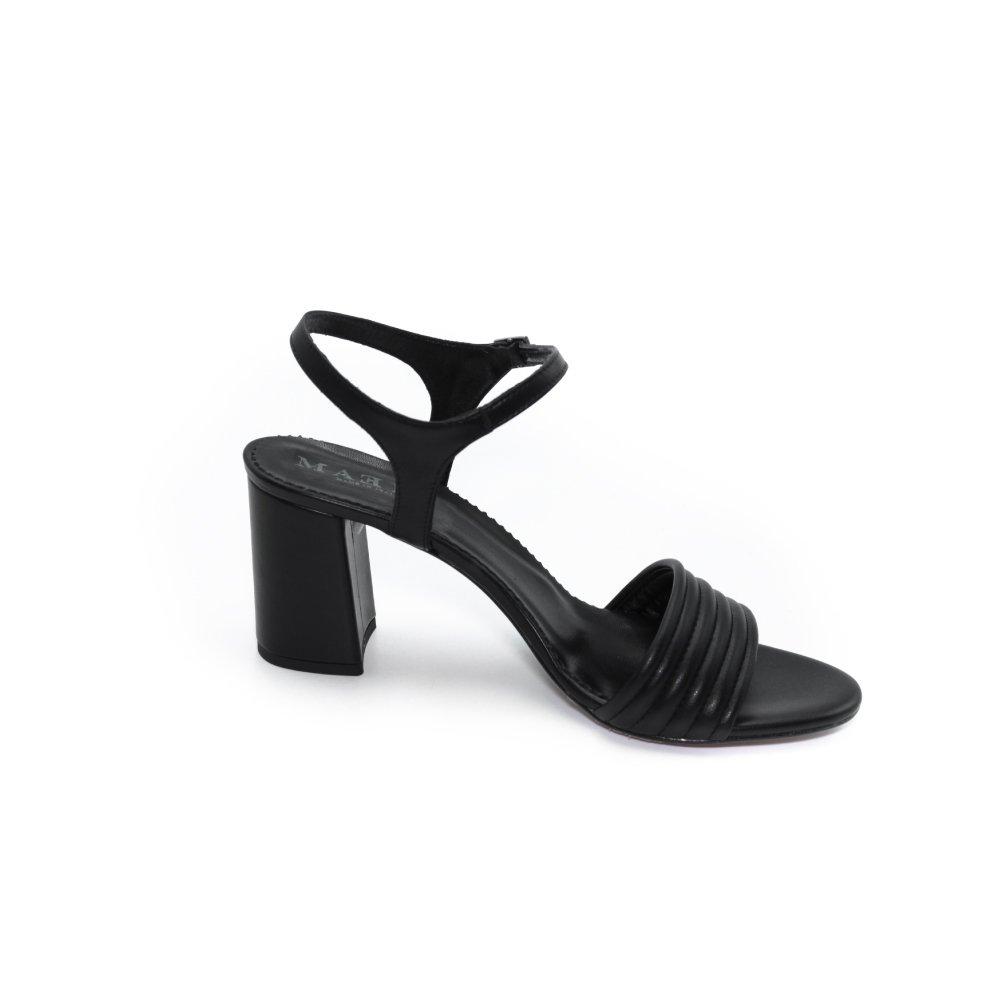 Maemi scarpa da cerimonia tacco 70mm fascia anteriore bombata – nero
