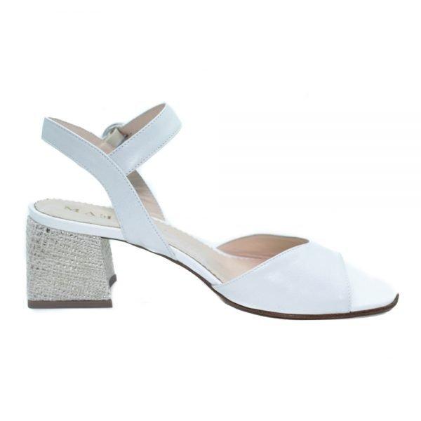 Maemi scarpa street urban tacco 50mm con tessuto 3D - bianco