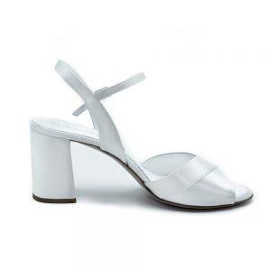 Sandalo da sposa cinturino con fascia in raso