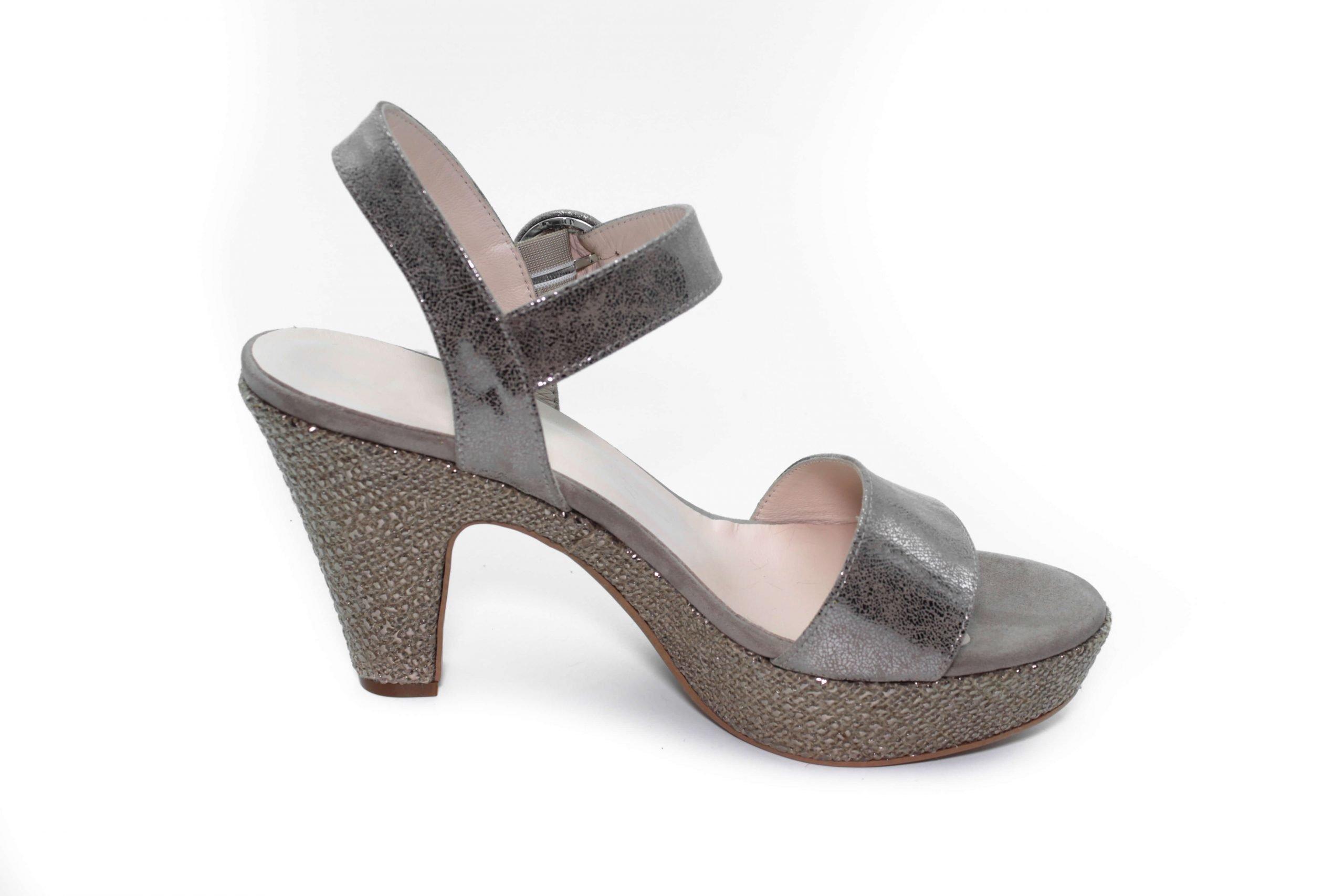 Maemi sandalo Classico tacco 80mm con cinturino regolabile – Tortora