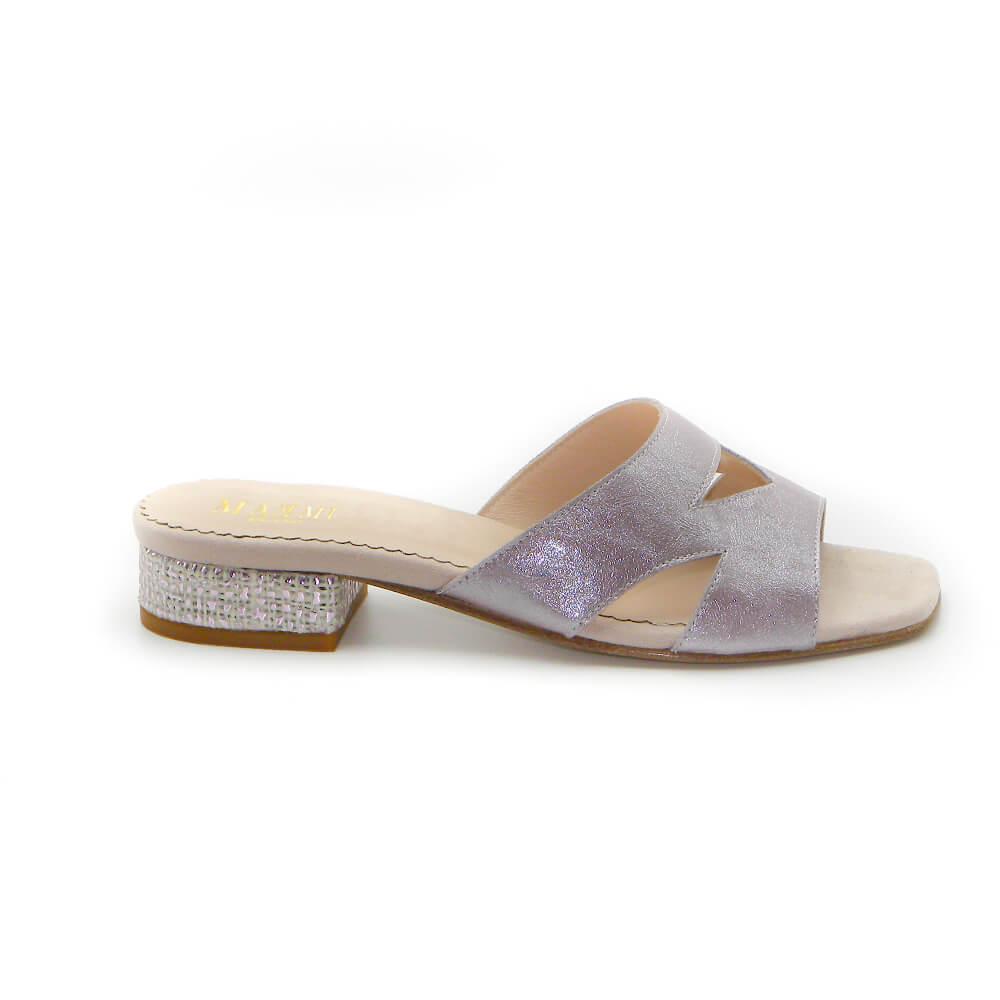 Maemi sandalo URBAN tacco 20mm punta quadrata – 3D Rosa