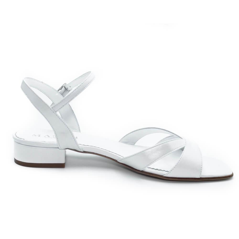 Maemi sandalo Sposa tacco 20mm punta quadrata – Bianco Sposa